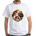 Santa's German Shepherd #13 White T-Shirt