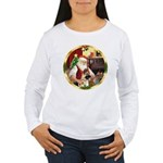 Santa's German Shepherd #13 Women's Long Sleeve T-