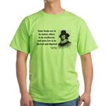 Francis Bacon Quote 5 Green T-Shirt