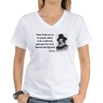 Francis Bacon Quote 5 Women's V-Neck T-Shirt