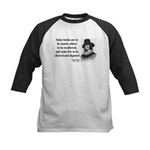 Francis Bacon Quote 5 Kids Baseball Jersey