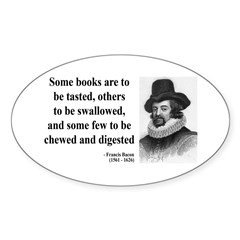 Francis Bacon Quote 5 Oval Decal