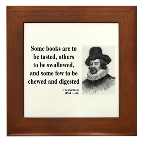 Francis Bacon Quote 5 Framed Tile