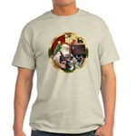 Santa's German Shepherd Pup #12-15 Light T-Shirt