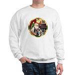 Santa's German Shepherd Pup #12-15 Sweatshirt