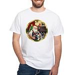 Santa's German Shepherd Pup #12-15 White T-Shirt