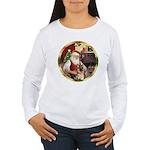 Santa's German Shepherd #11 Women's Long Sleeve T-