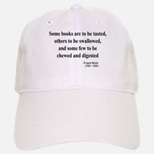 Francis Bacon Text 5 Baseball Baseball Cap