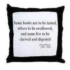 Francis Bacon Text 5 Throw Pillow