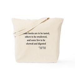 Francis Bacon Text 5 Tote Bag