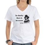 Francis Bacon Quote 6 Women's V-Neck T-Shirt