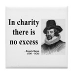 Francis Bacon Quote 6 Tile Coaster