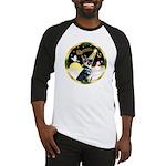 Night Flight/German Shepherd #15 Baseball Jersey