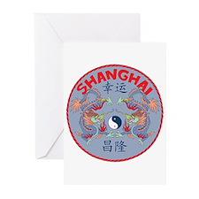 Shanghai Dragons Greeting Cards (Pk of 10)