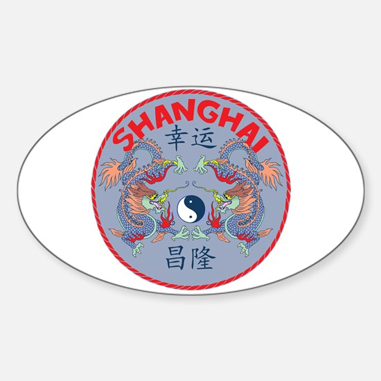Shanghai Dragons Oval Decal