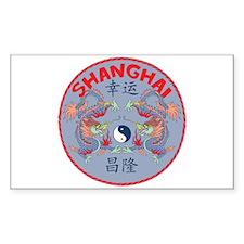 Shanghai Dragons Rectangle Decal