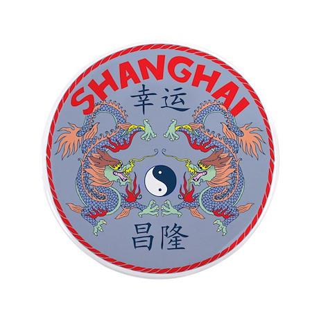 """Shanghai Dragons 3.5"""" Button"""