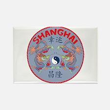 Shanghai Dragons Rectangle Magnet (10 pack)