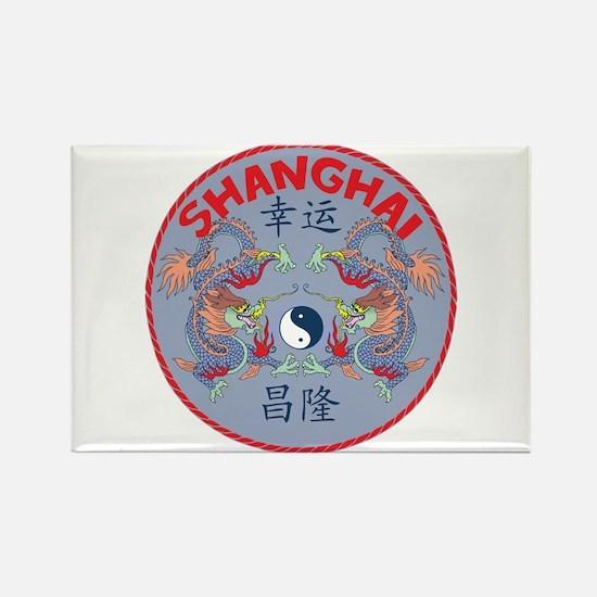 Shanghai Dragons Rectangle Magnet
