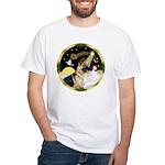Night Flight/German Shepherd #13 White T-Shirt