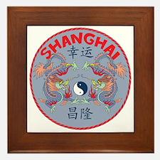 Shanghai Dragons Framed Tile