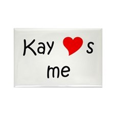 Cute Kay loves me Rectangle Magnet
