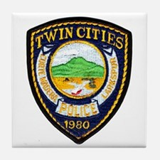 Twin Cities Police Tile Coaster