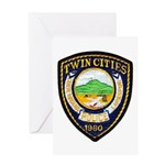 Twin Cities Police Greeting Card