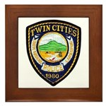 Twin Cities Police Framed Tile