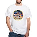 XmasStar/Shih Tzu White T-Shirt