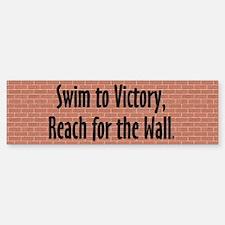 Swim Slogan Bumper Bumper Sticker