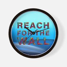 Swim Slogan Wall Clock