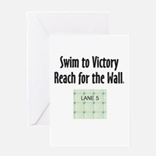 Swim Slogan Greeting Card