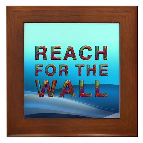 Swim Slogan Framed Tile