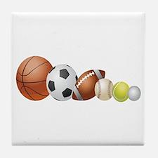Balls of Sports - Tile Coaster