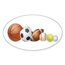 Balls of Sports - Oval Decal