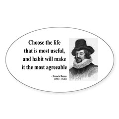 Francis Bacon Quote 7 Oval Decal
