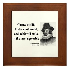 Francis Bacon Quote 7 Framed Tile