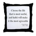 Francis Bacon Text 7 Throw Pillow