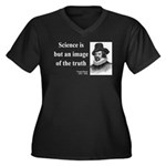 Francis Bacon Quote 8 Women's Plus Size V-Neck Dar