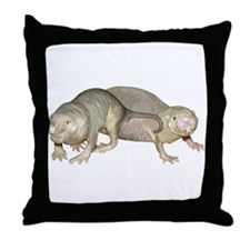 Naked Mole Rats Throw Pillow