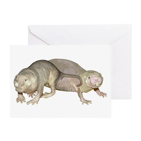 Naked Mole Rats Greeting Card