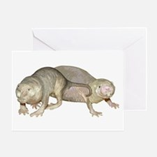 Naked Mole Rats Greeting Card