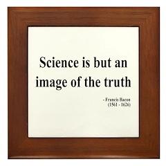 Francis Bacon Text 8 Framed Tile