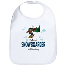 Future Snowboarder Like Daddy Baby infant Bib