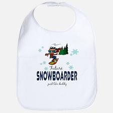 Future Snowboarder Like Daddy Baby infant Bib