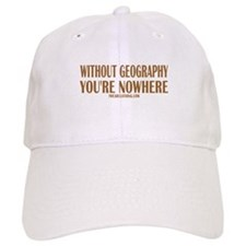 Nowhere without Geography Baseball Cap