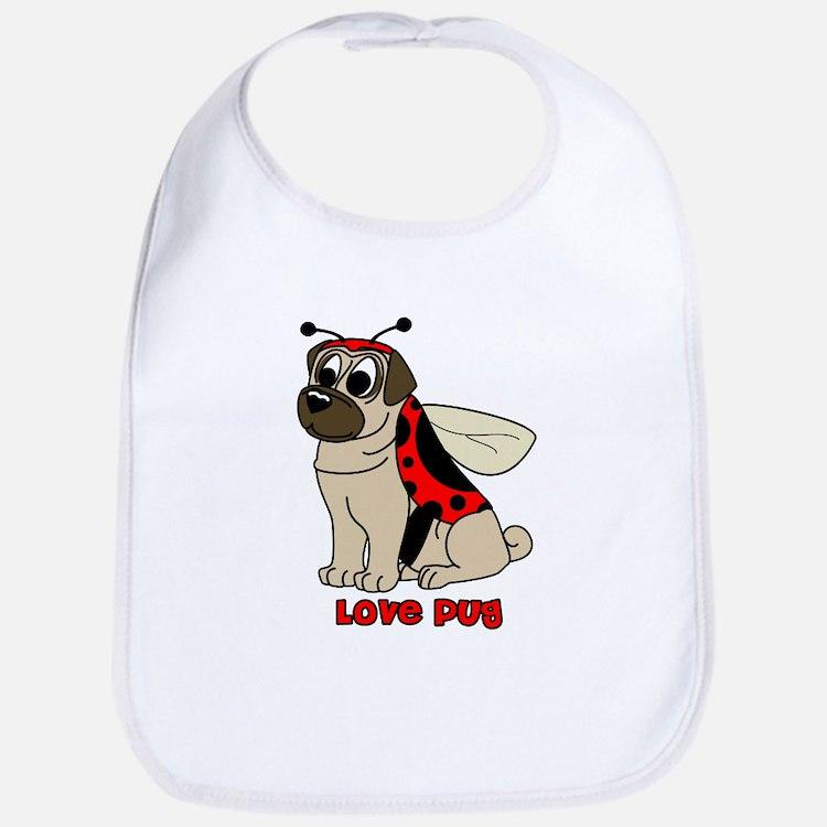 Love Pug Bib