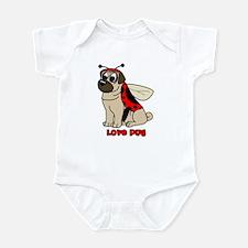 Love Pug Infant Bodysuit