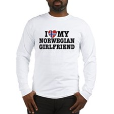 I Love My Norwegian Girlfriend Long Sleeve T-Shirt
